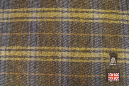 100% Wool Tweed Check Fabric AZ33